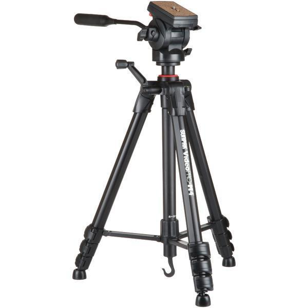 Video Pro-M 4 Tripod with Fluid Head-Camera & Camcorder Accessories-JadeMoghul Inc.