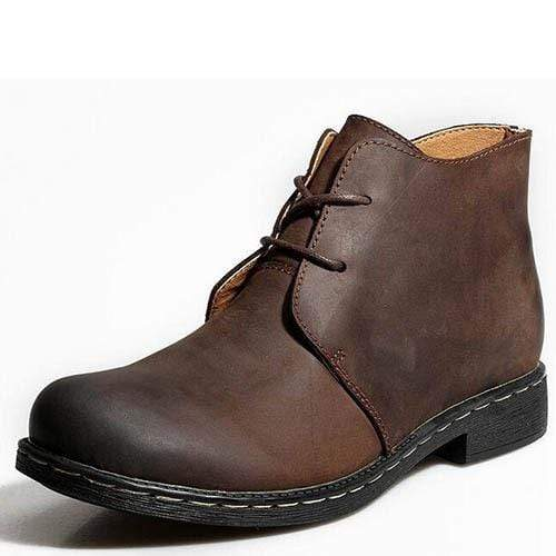 Vintage Men Boots / Genuine Leather Water Proof / Work / Hiking Ankle Boots AExp
