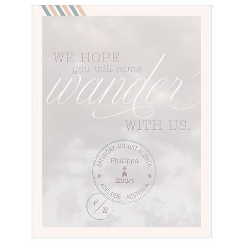 Wanderlust Save The Date Card (Pack of 1)-Weddingstar-JadeMoghul Inc.