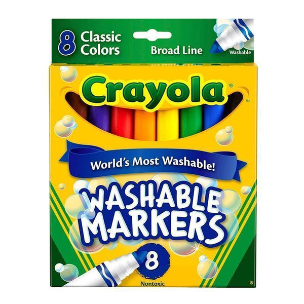 WASHABLE COLORING MARKERS 8 COLORS-Arts & Crafts-JadeMoghul Inc.