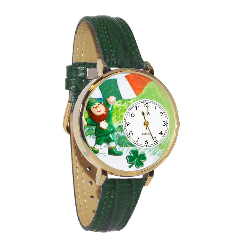 Watch St. Patrick's Day Watch (Irish Flag) in Gold (Large) WW