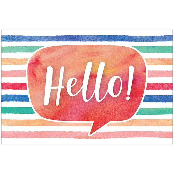 WATERCOLOR HELLO POSTCARDS-Learning Materials-JadeMoghul Inc.