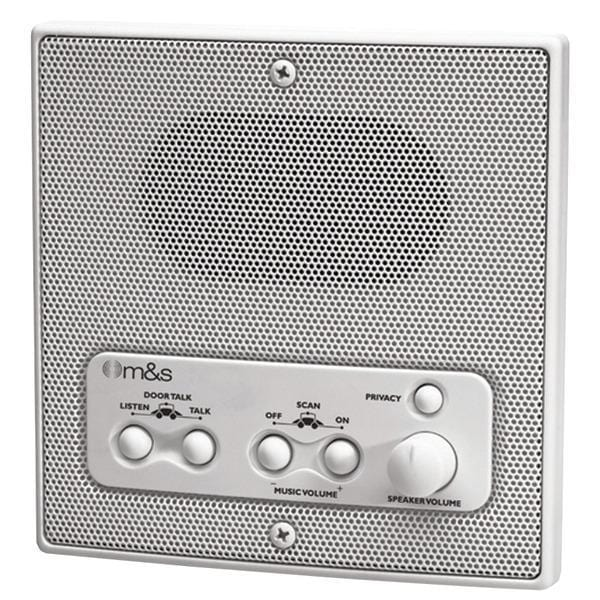 Weather-Resistant Remote Station Speaker (White)-A/V Distribution & Accessories-JadeMoghul Inc.
