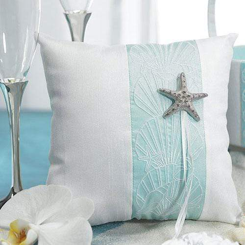 Wedding Ceremony Accessories Seaside Allure Ring Pillow (Pack of 1) JM Weddings
