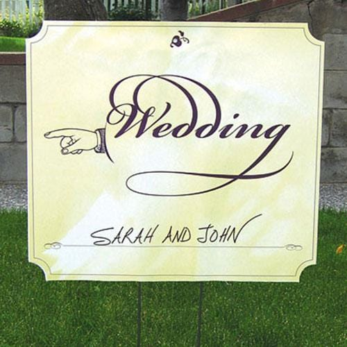 Wedding Directional Signs Two-Sided Wedding Directional Sign (Pack of 1)-Wedding Signs-JadeMoghul Inc.