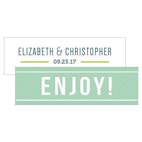 Wedding Favor Stationery Smart Type Small Rectangular Favor Tag Daiquiri Green (Pack of 1) JM Weddings