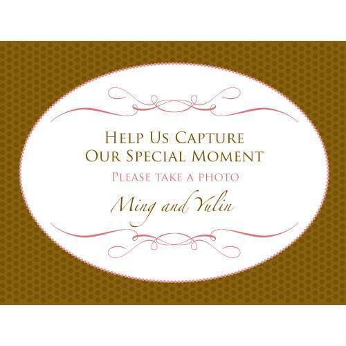 Wedding Memories Camera Table Sign (Pack of 1)-Wedding Favor Stationery-JadeMoghul Inc.
