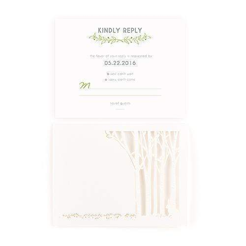 Weddingstar Woodland Pretty Laser Embossed Accessory Cards with Personalization (Pack of 16) JM Weddings