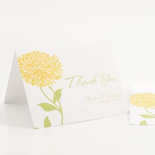 Weddingstar Zinnia Bloom Thank You Card Plum (Pack of 1) JM Weddings