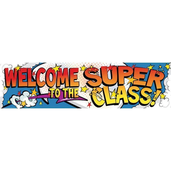 WELCOME TO THE SUPER CLASS BANNER-Learning Materials-JadeMoghul Inc.