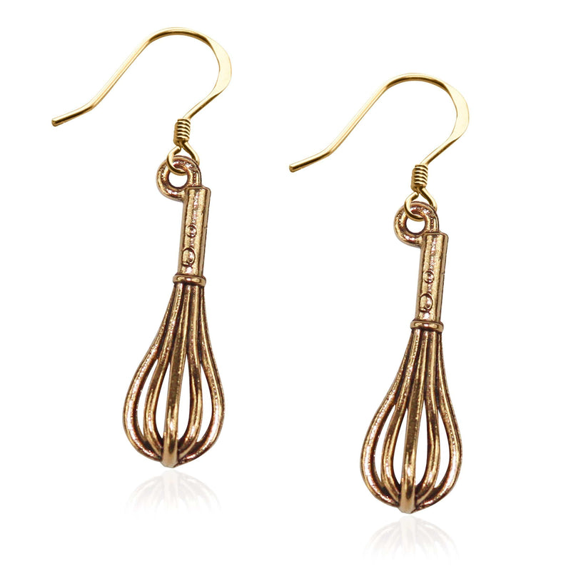Whisk Charm Earrings in Gold-Charm-JadeMoghul Inc.