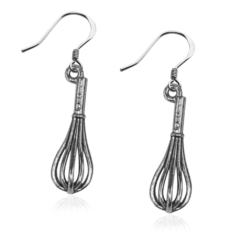 Whisk Charm Earrings in Silver-Charm-JadeMoghul Inc.