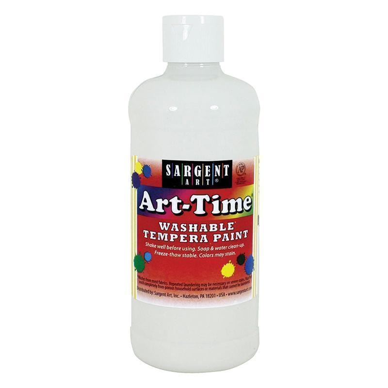 WHITE ART-TIME WASHABLE PAINT 16 OZ-Arts & Crafts-JadeMoghul Inc.