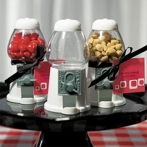White Gumball Machine Party Favor (Pack of 1)-Popular Wedding Favors-JadeMoghul Inc.