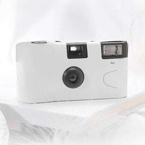 White Single Use Camera – Solid Color Design (Pack of 1)-Disposable Cameras-JadeMoghul Inc.