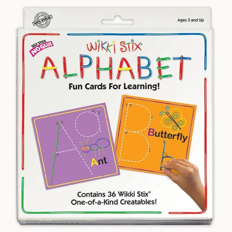 WIKKI STIX ALPHABET CARDS-Learning Materials-JadeMoghul Inc.