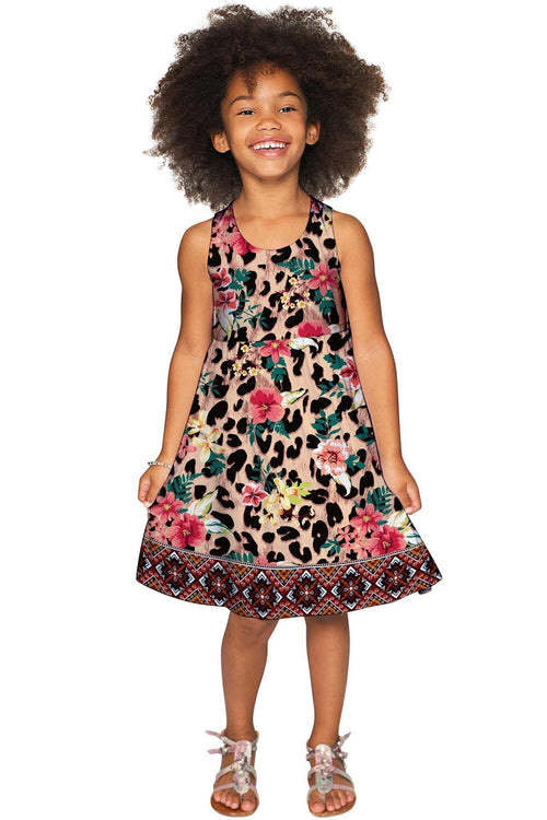 Wild & Free Sanibel Leopard Print Fit & Flare Knit Dress - Girls-Wild & Free-JadeMoghul Inc.