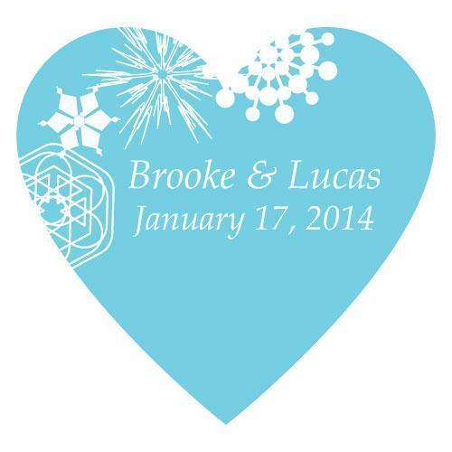 Winter Finery Heart Sticker Berry (Pack of 1)-Wedding Favor Stationery-Berry-JadeMoghul Inc.