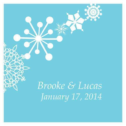 Winter Finery Square Tag Berry (Pack of 1)-Wedding Favor Stationery-Berry-JadeMoghul Inc.