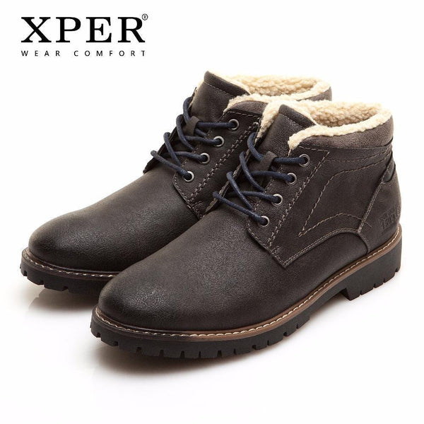 Winter Warm Comfortable Boots / Hi-Ankle Boots-XHY11202BL-8-JadeMoghul Inc.