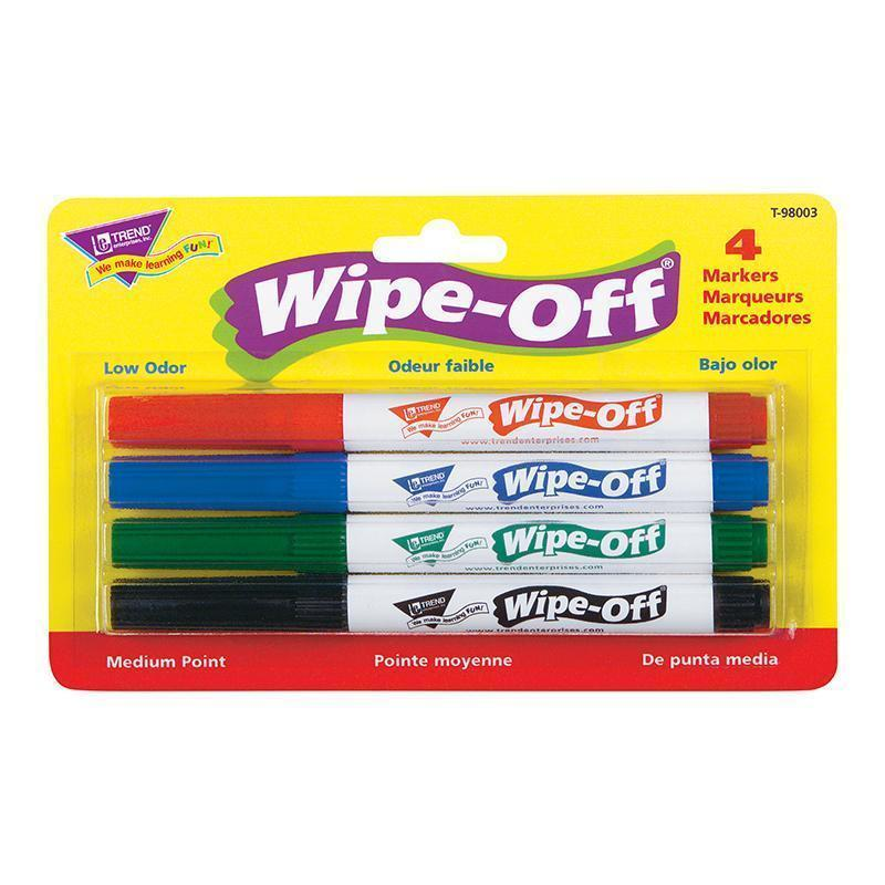 WIPE OFF MARKER 4 STANDARD COLORS-Learning Materials-JadeMoghul Inc.
