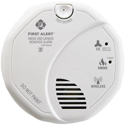 Wireless Interconnected Smoke & Carbon Monoxide Alarm with Voice & Location-Fire Safety Equipment-JadeMoghul Inc.