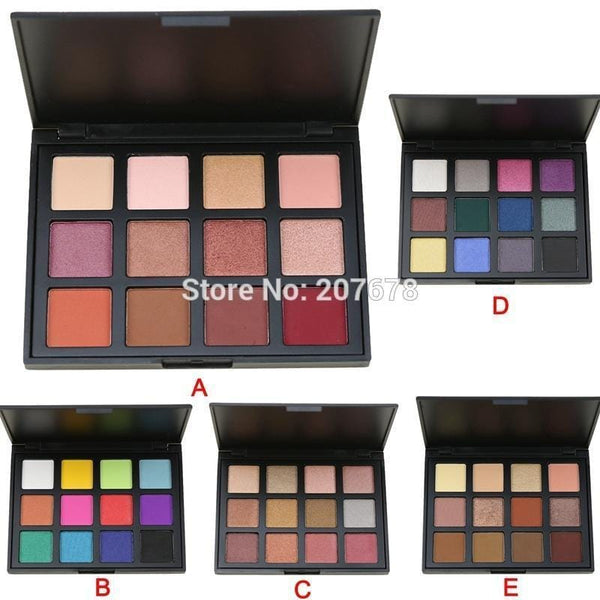 Women 12 Color All Inclusive Eyeshadow Palette Collection-A-JadeMoghul Inc.