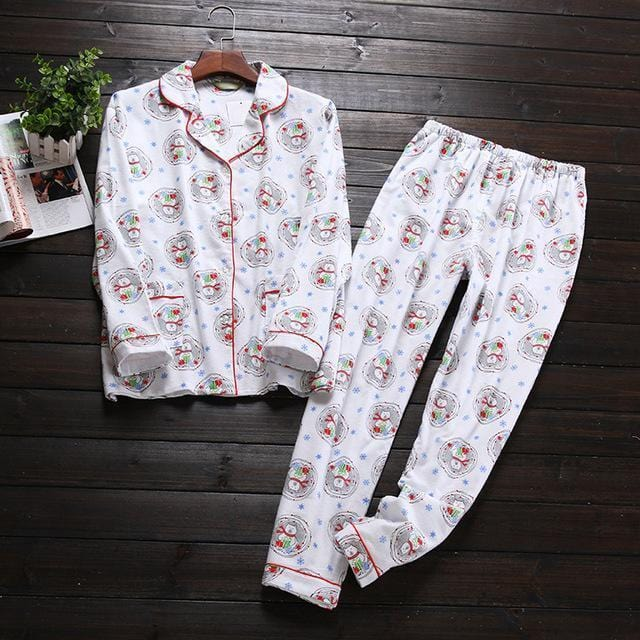 Women 2 Piece cotton Printed Pajama Set-Circle Bear-S-JadeMoghul Inc.