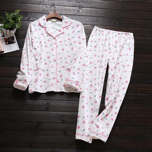 Women 2 Piece cotton Printed Pajama Set-Floral-S-JadeMoghul Inc.