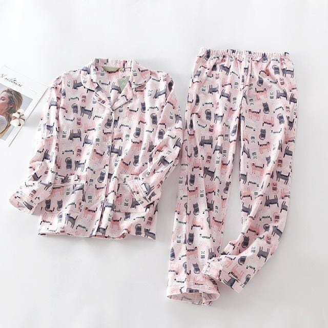 Women 2 Piece cotton Printed Pajama Set-MM-S-JadeMoghul Inc.