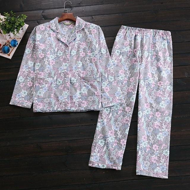 Women 2 Piece cotton Printed Pajama Set-N fashion Floral-S-JadeMoghul Inc.