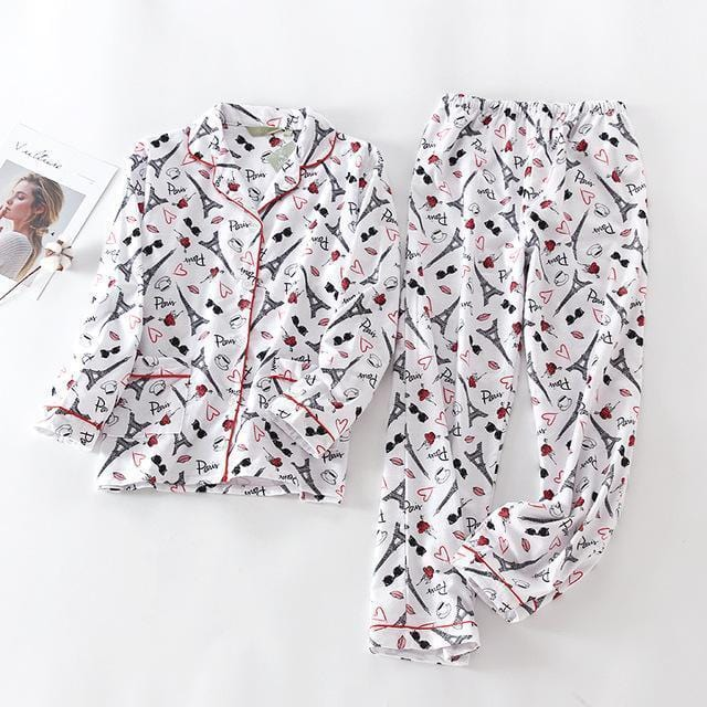 Women 2 Piece cotton Printed Pajama Set-TT-S-JadeMoghul Inc.