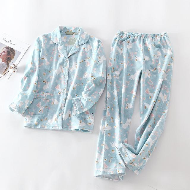 Women 2 Piece cotton Printed Pajama Set-TZ-S-JadeMoghul Inc.