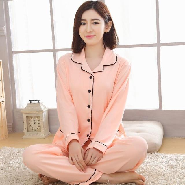 Women 2 Piece Cotton Printed Pajama Set With Front Button Closure-851-XL-JadeMoghul Inc.