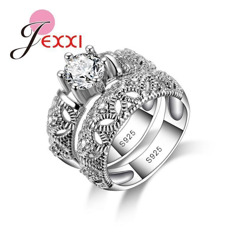 Women 925 Sterling Silver Elegant Ring Set-7-JadeMoghul Inc.