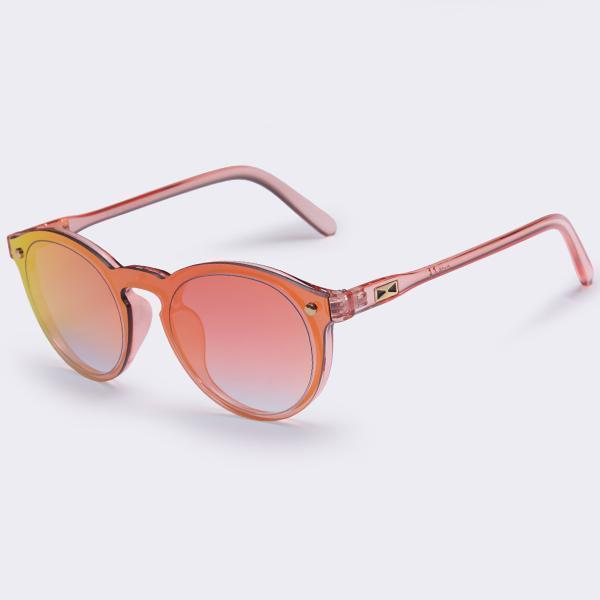 Women All Acrylic/ Plastic Frame Round Sunglasses With 100% UV Protection-C04Red-China-JadeMoghul Inc.