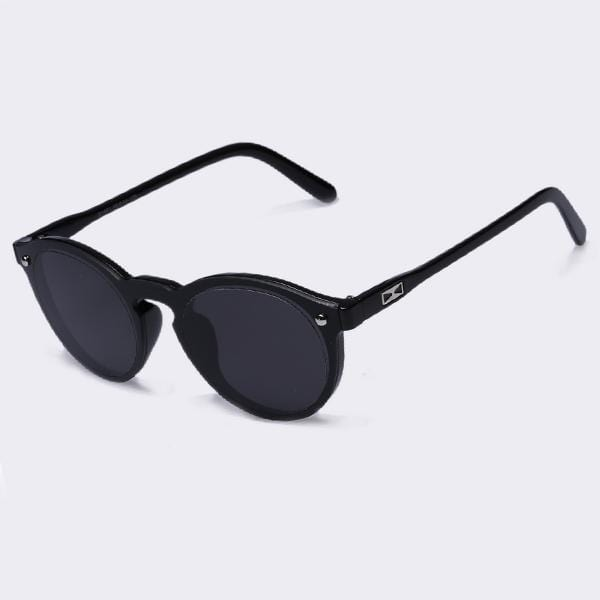 Women All Acrylic/ Plastic Frame Round Sunglasses With 100% UV Protection-C05Gray-China-JadeMoghul Inc.