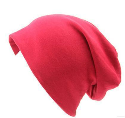 Women Basic Wool Blend Slouch Beanie/ Hat In Solid Colors-M028 Big Red-JadeMoghul Inc.