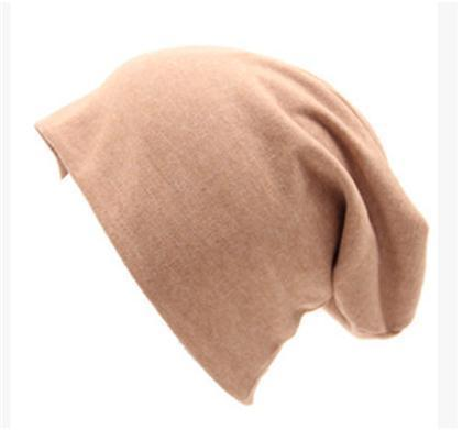 Women Basic Wool Blend Slouch Beanie/ Hat In Solid Colors-M028 Cream colored-JadeMoghul Inc.