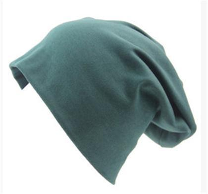 Women Basic Wool Blend Slouch Beanie/ Hat In Solid Colors-M028 Dark green-JadeMoghul Inc.