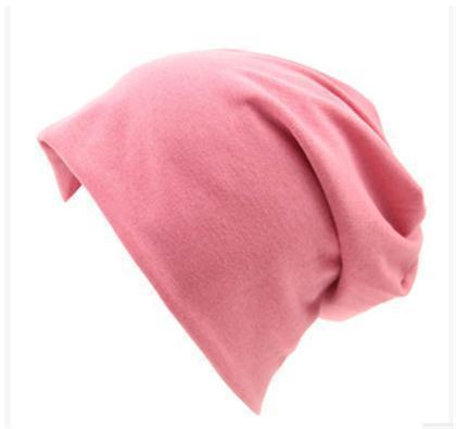 Women Basic Wool Blend Slouch Beanie/ Hat In Solid Colors-M028 Leather Pink-JadeMoghul Inc.