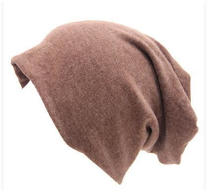 Women Basic Wool Blend Slouch Beanie/ Hat In Solid Colors-M028 Light coffee-JadeMoghul Inc.