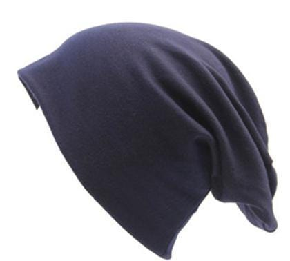 Women Basic Wool Blend Slouch Beanie/ Hat In Solid Colors-M028 Navy-JadeMoghul Inc.