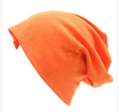Women Basic Wool Blend Slouch Beanie/ Hat In Solid Colors-M028 Orange-JadeMoghul Inc.