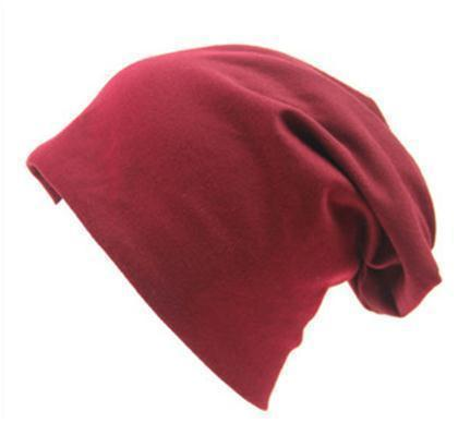 Women Basic Wool Blend Slouch Beanie/ Hat In Solid Colors-M028 Red wine-JadeMoghul Inc.