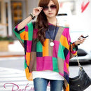 Women Batwing Sleeves Printed chiffon Shirt Top-picture color 11-4XL-JadeMoghul Inc.