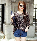 Women Batwing Sleeves Printed chiffon Shirt Top-picture color 12-4XL-JadeMoghul Inc.
