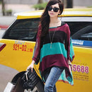 Women Batwing Sleeves Printed chiffon Shirt Top-picture color 22-4XL-JadeMoghul Inc.