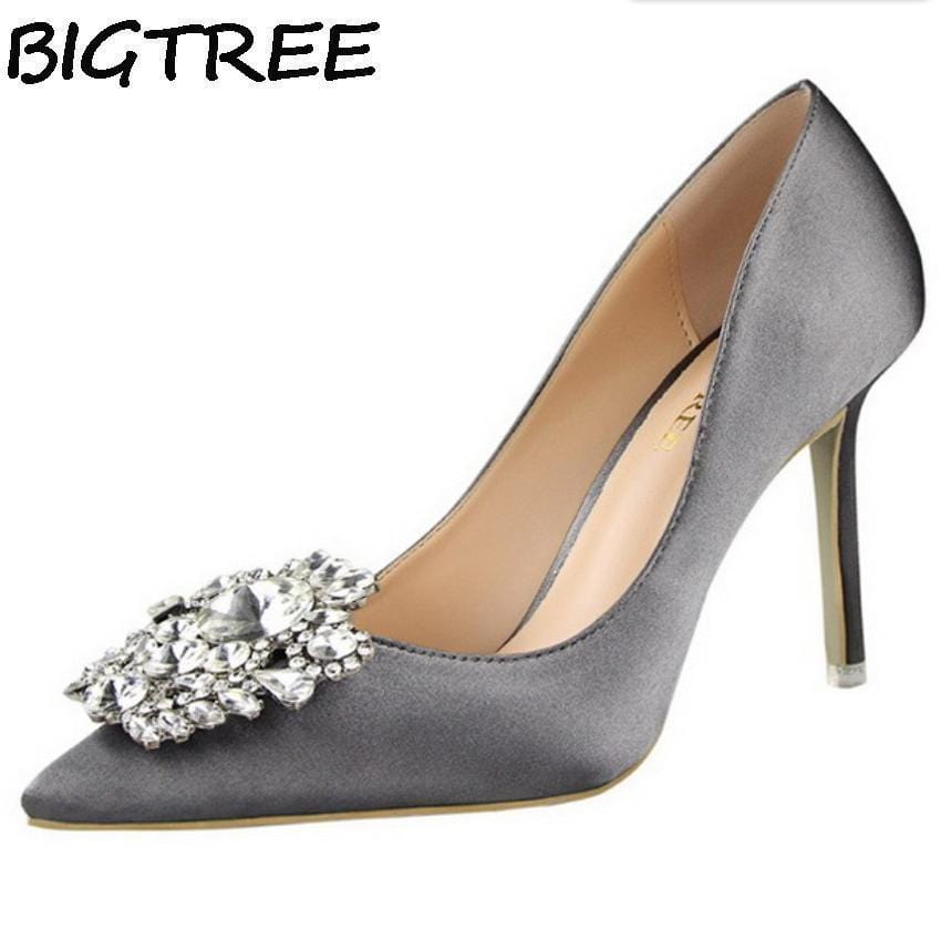 Ladies Norta Cage Black//Silver Party Sparkly Evening Wedding Shoes High Heel Sa