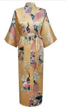 Women Calf Length silk Floral Print Robe-As the photo show 9-S-JadeMoghul Inc.